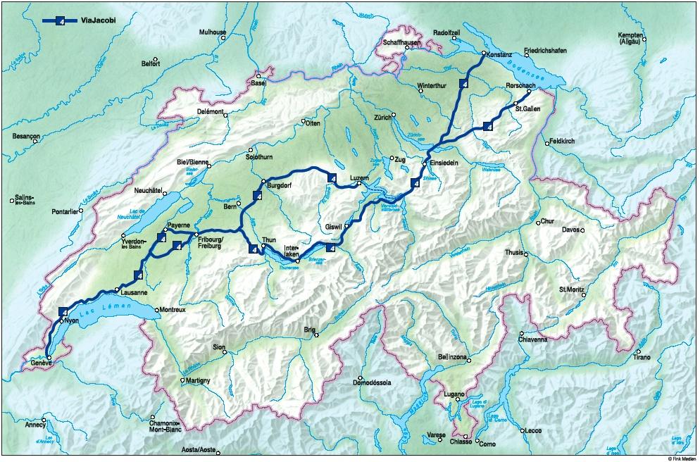 Jakobsweg durch die Schweiz